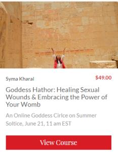 Goddess Hathor course