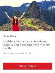 Goddess Pachamama sales banner